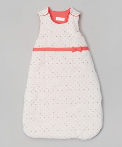 Coral Polka Dot Sleeping Sack