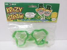 St. Patrick's Day straw Glasses