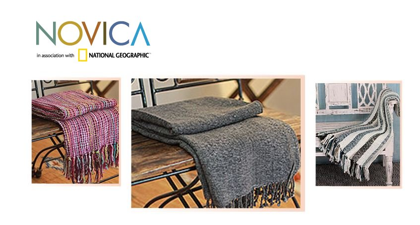 NOVICA Woven Throw Blankets