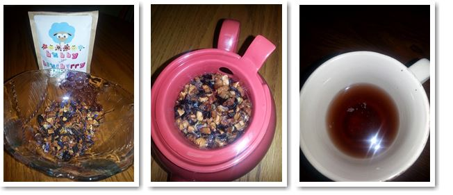 Kids blueberry and pomegranate tea