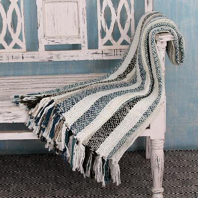 Indian Striped Throw Blanket,