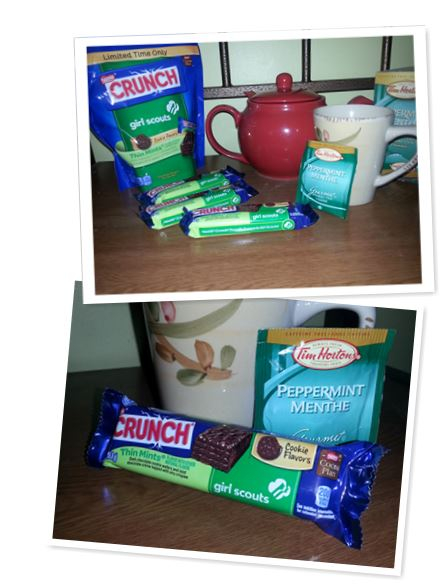 Girl Scout Cookies + Nestle Crunch