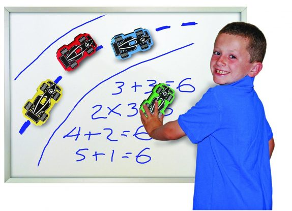 The Classics Magnetic Race Car Erasers for Whiteboard Games