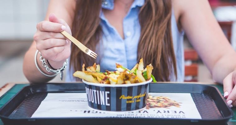 NYF gives away 24k Gold Poutine Forks + Bacon Double Cheese Poutine on Bacon Day!
