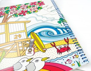 Beach Bums Color-in' Book