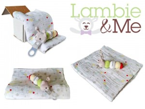 Lambie and Me's caterpillar gift set