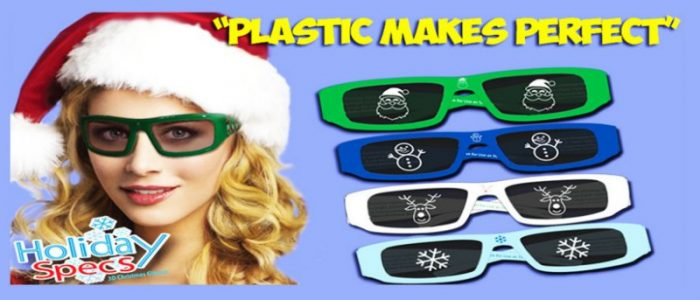 Holiday Specs One Size Fits All Paper Assorted 3D Christmas Glasses