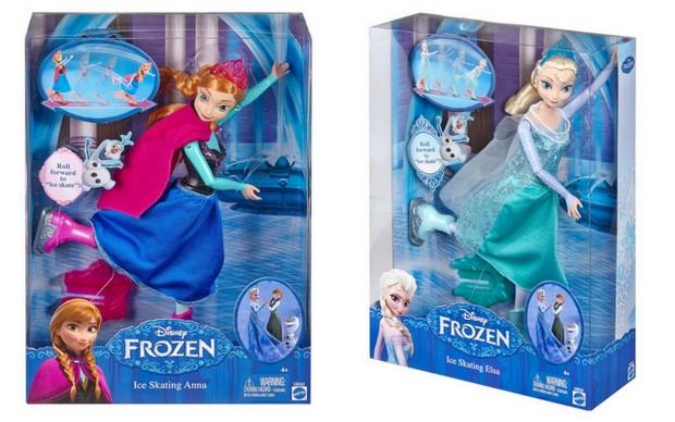 Mattel Disney's Frozen Skating Dolls - Anna and Elsa