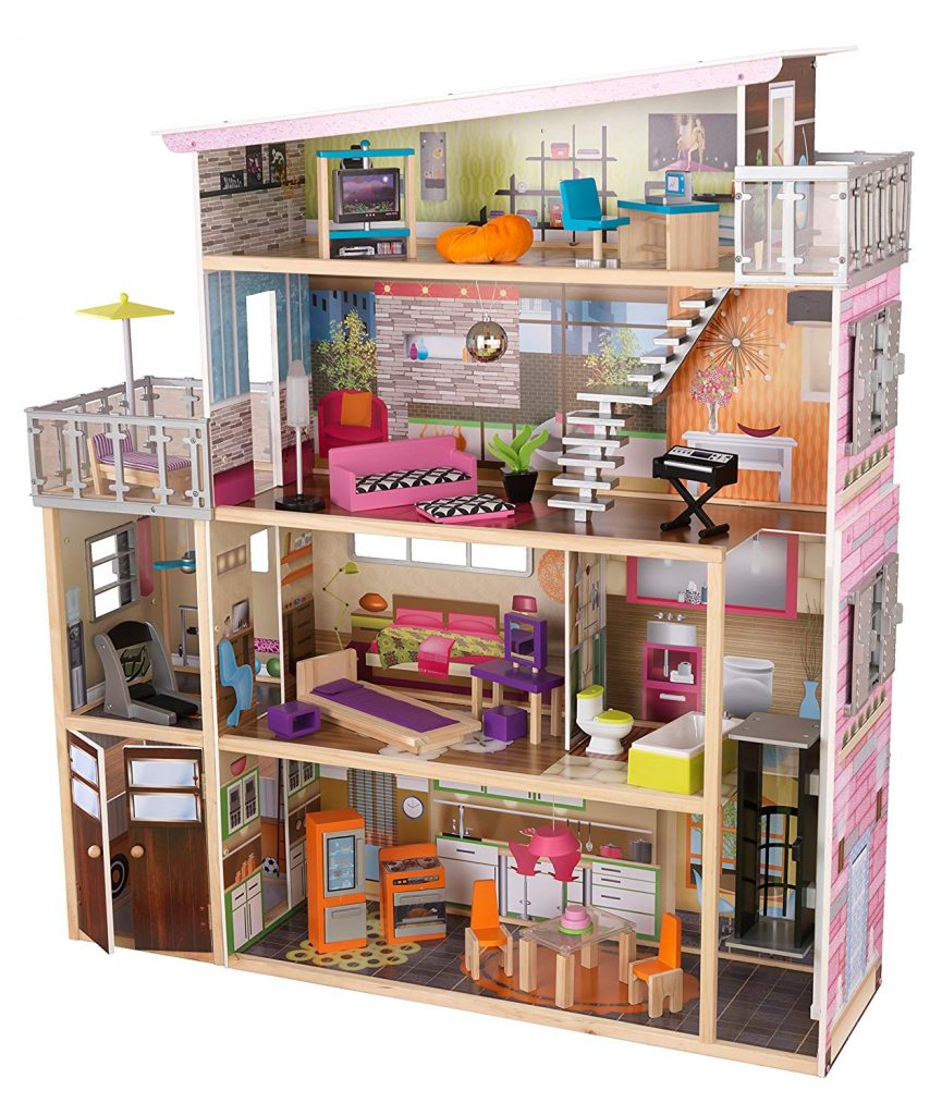 KidKraft Girl's Soho Townhouse with Furniture