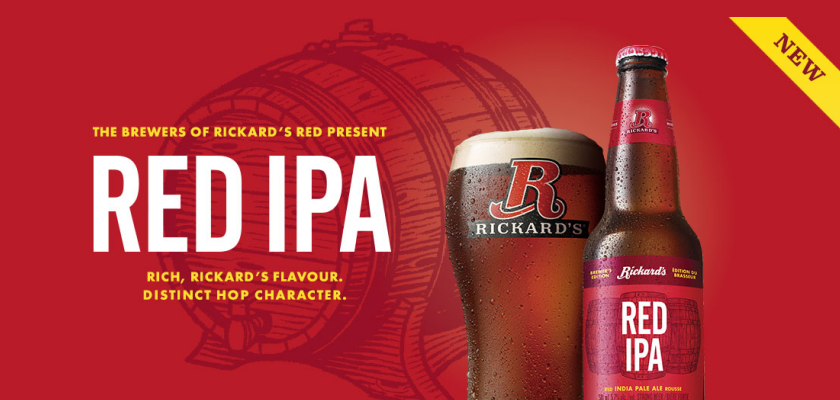 RICKARD'S RED IPA for the holidays