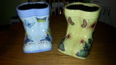 Rain Boots Planter.