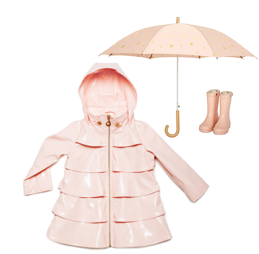 oil and water pink raincoats