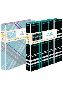 Avery® Durable View Binder, Plaid Colours