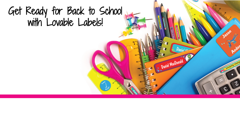 Lovable Labels For Your Child's School Supplies Giveaway