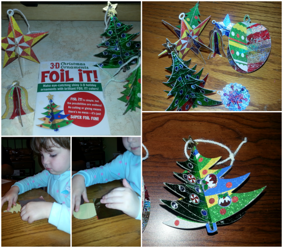 recommended for ages 4 and up the christmas ornament foil it kit includes three large and four small ornaments