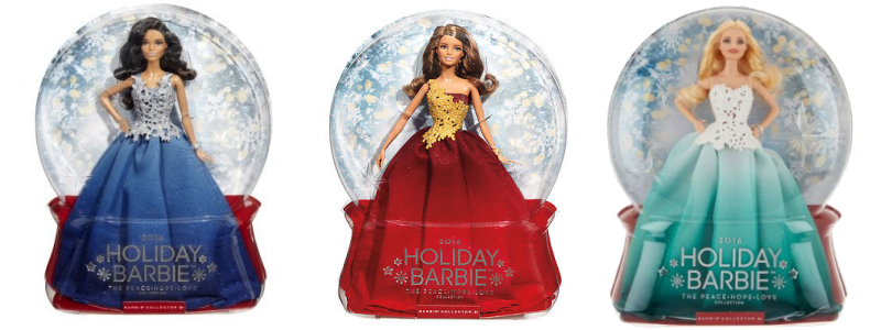 Holiday Barbie Dolls-2016 holiday collection