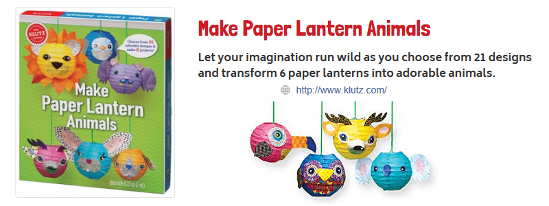 make paper animal lanterns klutz