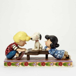 Jim Shore for Enesco Peanuts Schroeder with Lucy & Snoopy Figurine,