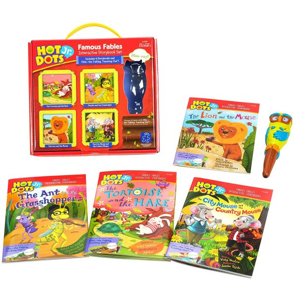 Educational Insights Hot Dots Jr. Famous Fables Interactive Storybook Set with Ollie Pen