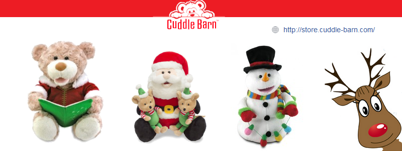 Animated plush toys from Cuddle Barn