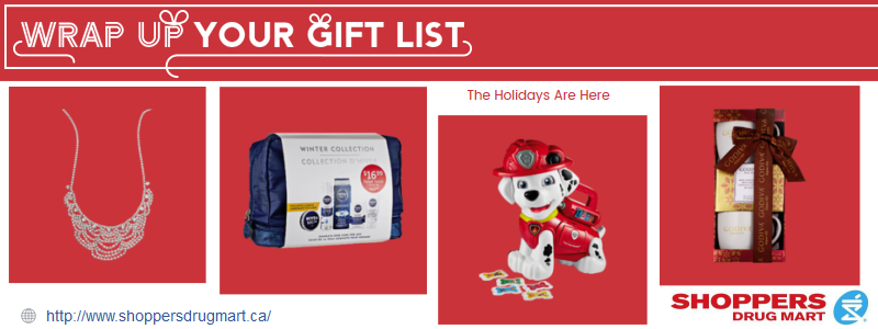 Holiday Shopping with Shoppers Drug Mart
