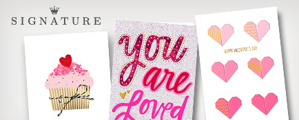 Signature cards for Valentine's Day