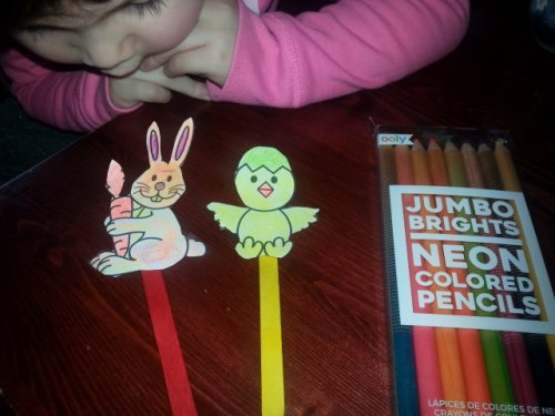Bunny and Chick Stick Puppets