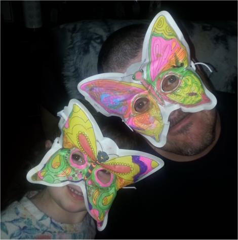 3D Colorables - Breezy Butterfly Masks