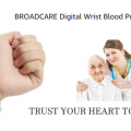 BROADCARE Digital Arm Blood Pressure Monitor with case