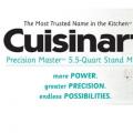 Cusinart Precision Master 5.5 Qt Stand Mixer