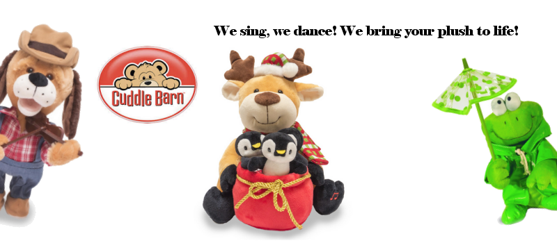 Cuddle Barn animated musical plush