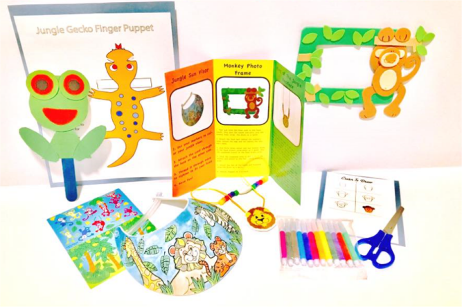 In the jungle children's craft kit (funvelope)