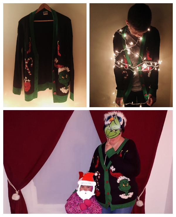 Women's The Grinch Ugly Christmas Cardigan Sweater