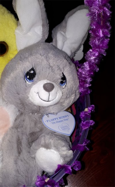 Precious Moments Gray Floppy Bunny Easter stuffed animals by Aurora