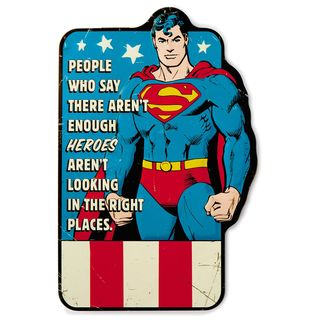 Superman™ Embossed Metal Sign