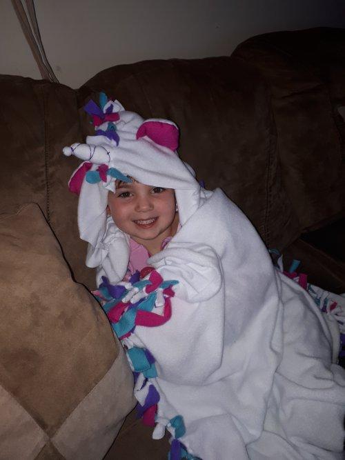 Make It Real Unicorn Hoodie Blanket