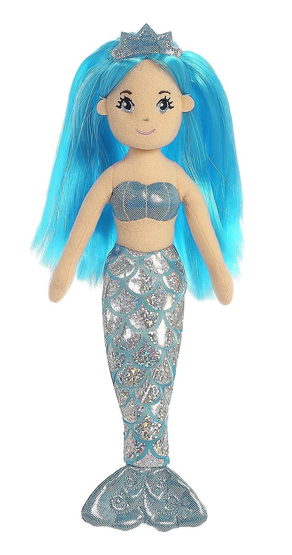Aurora Sea Sparkles Sapphire Mermaid with Sparkle Hair