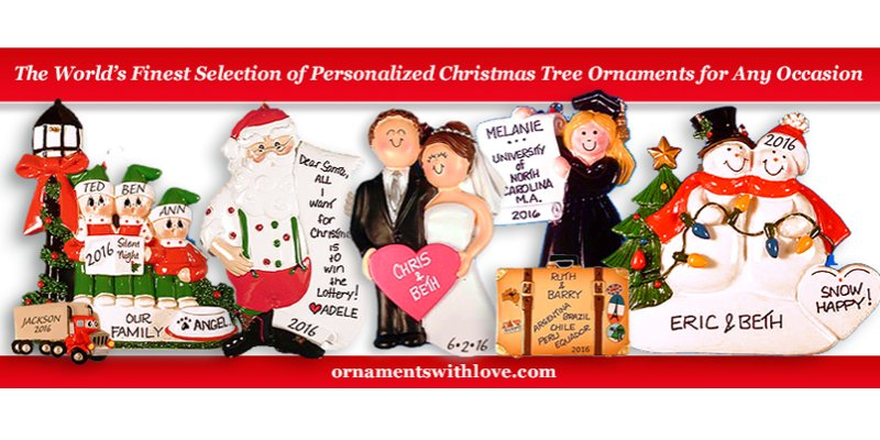 Personalized Ornaments with Love creates memories