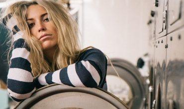 woman laundry