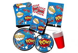 Superhero Party Supplies Set