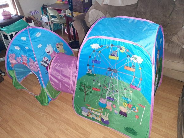 play tent and crawl tunnel