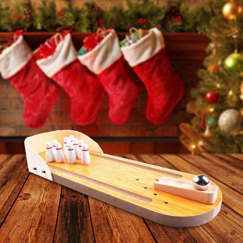 aGreatLife Wooden Tabletop Bowling Game
