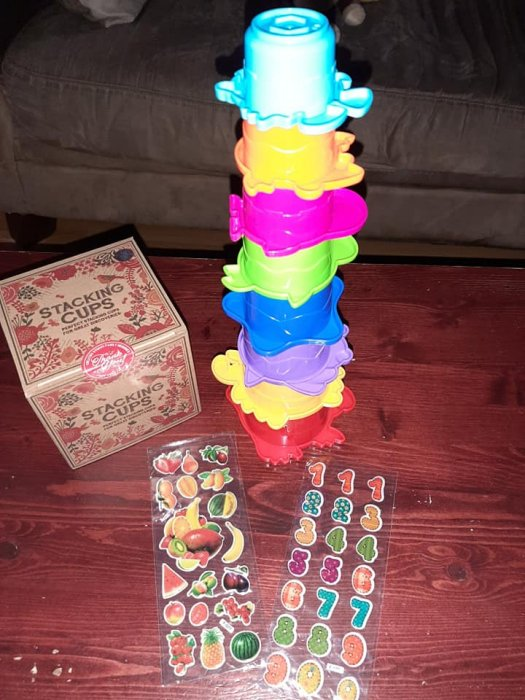 AgreatLife rainbow stacking cups
