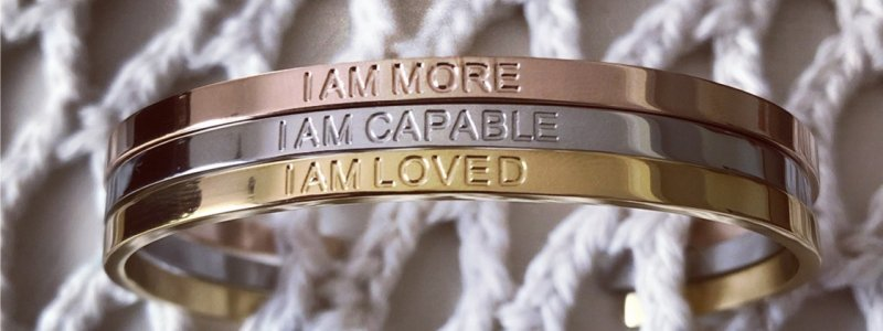 Positive I Am Affirmation Jewelry