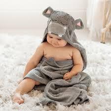 Natemia organic baby bath towels.