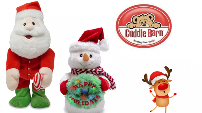 Cuddle Barn Christmas animated plush