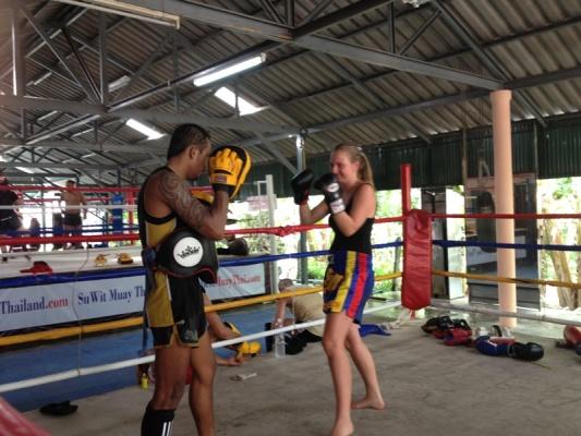 Suwit Muay Thai Training