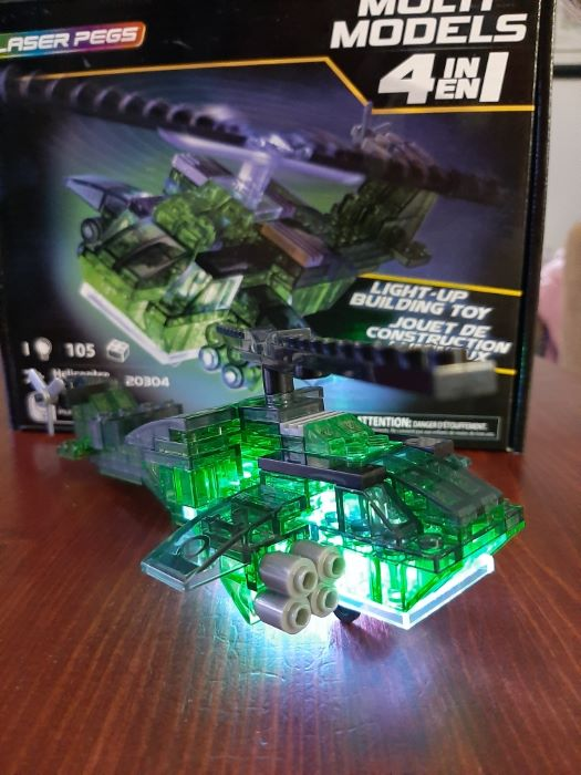 Laser Pegs Helicopter