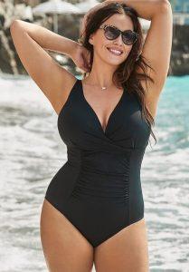 Ruching bathing suit