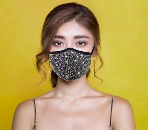 luxe rhinestone mask